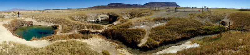 panoramic view of Double Hot Springs area