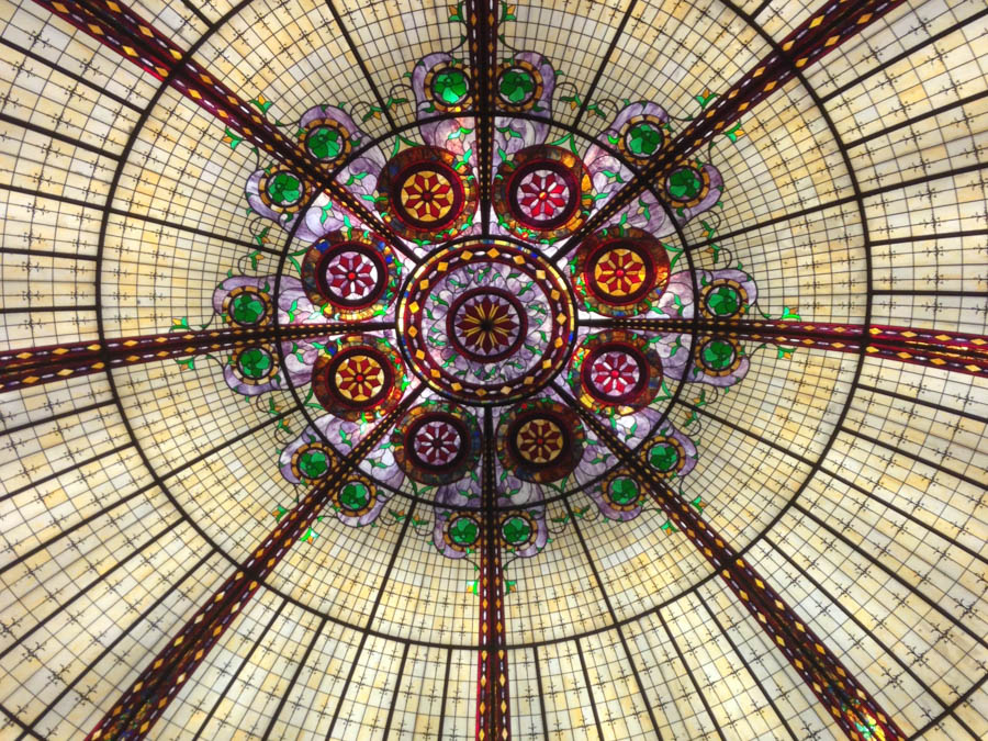 stained glass ceiling at the Venetian