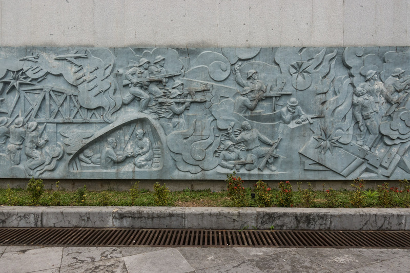 bas-relief at the cemetery