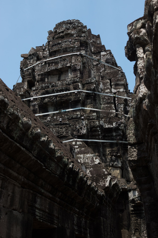 Banteay Kdei tower held together with ratchets